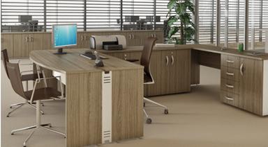 Móveis para mobiliar pequenos escritórios